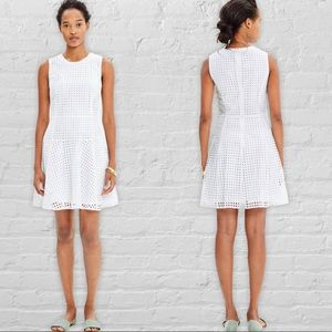 Madewell eyelet lace sunshade dress fit flare